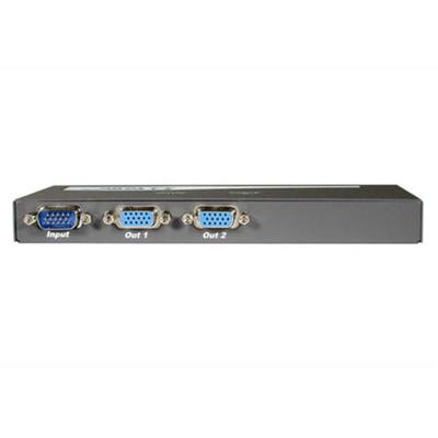C2G 2-Port UXGA Monitor Splitter/Extender Video splitter - Zwart
