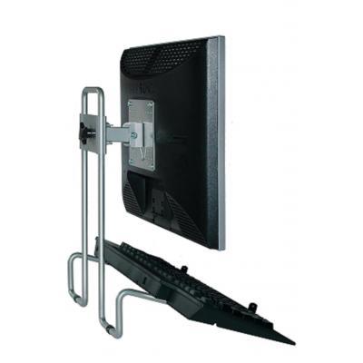 R-go tools monitorarm: Steel Flex Monitorstandaard, verstelbaar, zilver