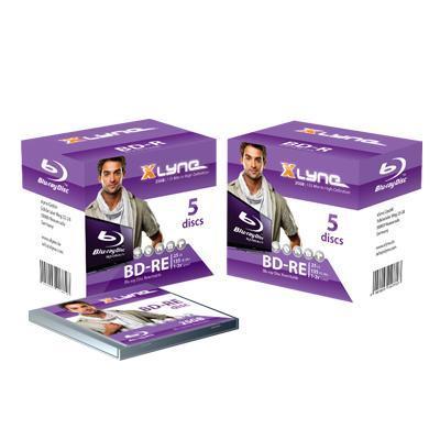Xlyne BD: BD-RE 25GB 5 Pack - Paars