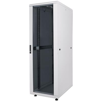 "Intellinet 19"" Network, 22U, 1144 (h) x 600 (w) x 800 (d) mm, IP20-rated housing, Max 1500kg, Flatpack, Grey ....."