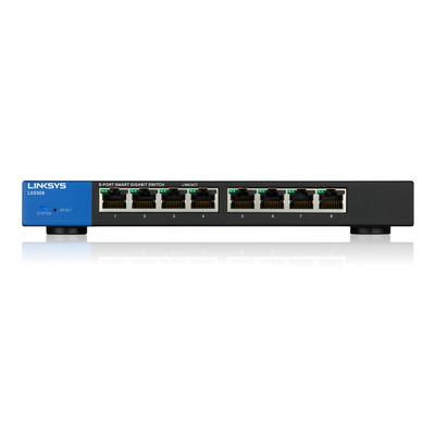 Linksys LGS308 Switch - Zwart, Blauw