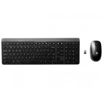 HP 2.4 GHz Wireless Keyboard and Mouse toetsenbord - Zwart