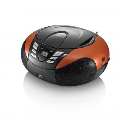 Lenco CD-radio: SCD-37 - Zwart, Oranje
