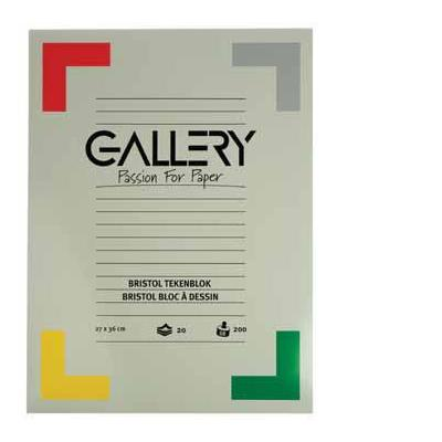 Gallery tekenpapier: TEKENBLOK BRISTOL 27X36 20BL.
