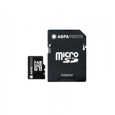 AgfaPhoto 32GB MicroSDHC Class 10 Flashgeheugen - Zwart