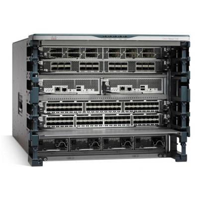 Cisco netwerkchassis: Nexus 7706 Bundle (Chassis,1xSUP2E,3xFAB2),No Power Supplies - Grijs