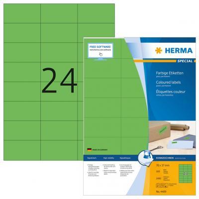 Herma etiket: Etiketten groen 70x37 A4 2400 st.