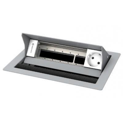 Kindermann 4-fold, 1 x mains Inbouweenheid - Zilver, Wit