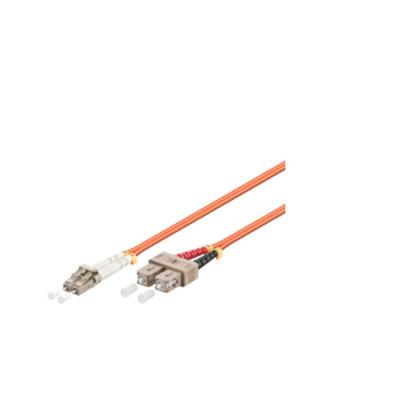 Microconnect fiber optic kabel: LC/SC, OM1, 62.5/125 µm, 0.5 m - Oranje