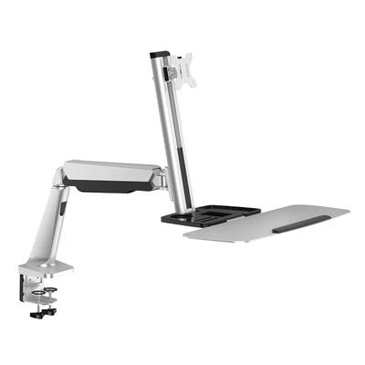 LogiLink Sit-stand workstation monitor desk mount, tilt -15°/+15°, swivel -90°/+90°, level adjustment .....