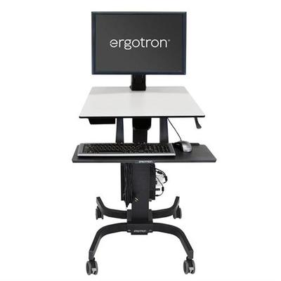 Ergotron WorkFit-C, Single HD Sit-Stand Workstation Multimedia kar & stand - Zwart, Grijs