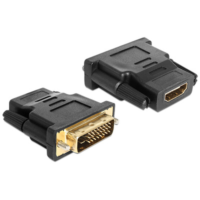 DeLOCK Adapter DVI 24+1 pin male > HDMI female Kabel adapter - Zwart