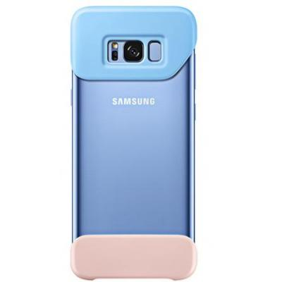 Samsung mobile phone case: Galaxy S8+ 2Piece Cover Blauw - Blauw, Roze