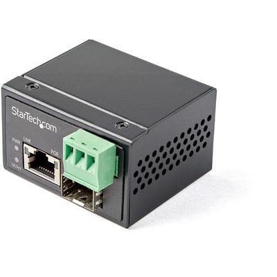 StarTech.com PoE+ Industrial Glasvezel naar Ethernet 30W SFP naar RJ45 Single Mode/Multi Mode Gigabit Fiber .....