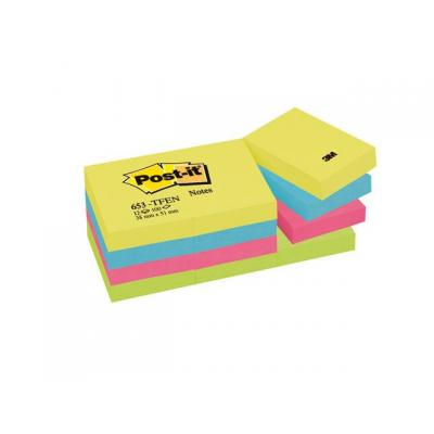 Post-it zelfklevend notitiepapier: Notitieblok Energetic38x51mm ass/p12x100