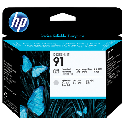HP 91 Printkop - Licht Grijs, Foto zwart