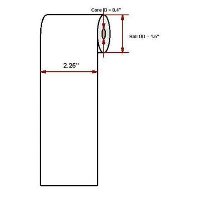 """Datamax o'neil thermal papier: Premium paper 2.25""""' x 53'"""