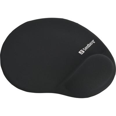 Sandberg Gel Mousepad with Wrist Rest Muismat - Zwart