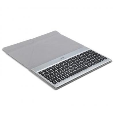 Acer mobile device keyboard: Iconia A3-A10 Crunch Keyboard - US international - Zwart, Zilver, QWERTY