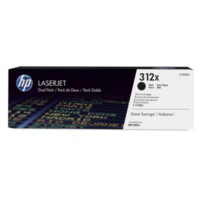 HP toner: 312X 2-pack zwart voor LaserJet Pro MFP M476dn & M476dw