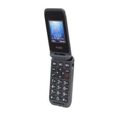 Fysic mobiele telefoon: GSM 900 / 1800Mhz, 3.5 mm - Zwart