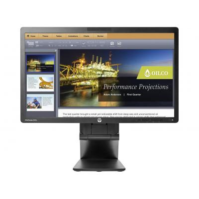 HP EliteDisplay E221c monitor - Zwart