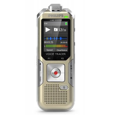 "Philips voice recorder: Voice Tracer 4.4958 cm (1.77 "") (128 x 160, LCD), 4GB (Flash), 110 mW, Headphones (3.5 mm), ....."