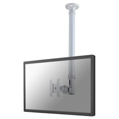 "Newstar flat panel plafond steun: TV/Monitor Ceiling Mount for 10""-30"" Screen, Height Adjustable - Silver - Zilver"