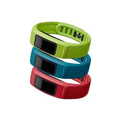"""Garmin : 3 x banden voor Vivofit 2, L (6.0-8.3""""/152-210 mm), Actief (groen/rood/blauw) - Blauw, Groen, Rood"""