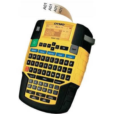 DYMO RHINO 4200 - QWERTZ Labelprinter - Zwart, Geel