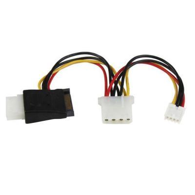 Startech.com electriciteitssnoer: LP4 naar SATA Verloopkabel Voeding met Floppy-aansluiting