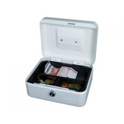 Staples geldkist: Geldkist 88x200x160mm wit