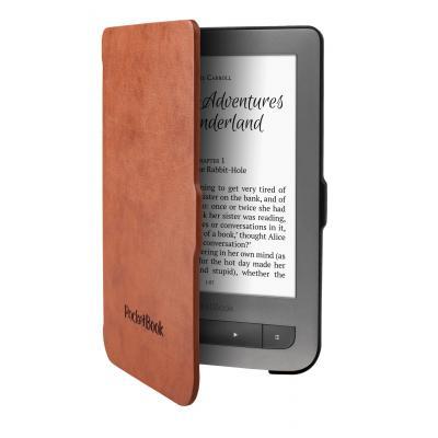 Pocketbook e-book reader case: JPB626(2)-LB-P - Zwart, Bruin