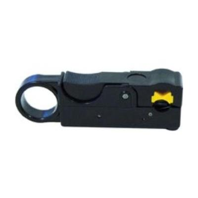 Cablecon tang: Rotary coax cable stripper For RG11 cables up to 9,8 mm. - Zwart