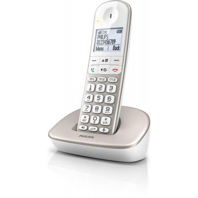 Philips dect telefoon: Draadloze telefoon XL4901S/22 - Zilver, Wit