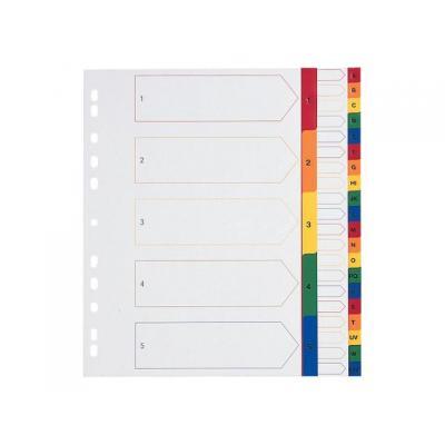 Staples schutkaart: Tabblad SPLS A4 23r 1-10 pp kleur/set 10