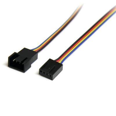 Startech.com : 30cm 4-pins Verlengkabel voor Ventilatorvoeding M/F - Multi kleuren