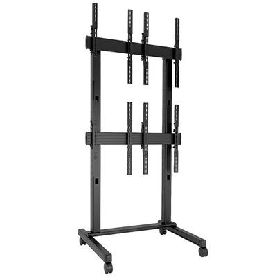 Chief FUSION 2 x 2 Portrait Micro-Adjustable Large Freestanding Video Wall Cart, Black TV standaard - Zwart