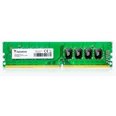 Adata RAM-geheugen: DDR4, U-DIMM, 4 GB, 2400 MHz, 0°C - 85°C - Groen