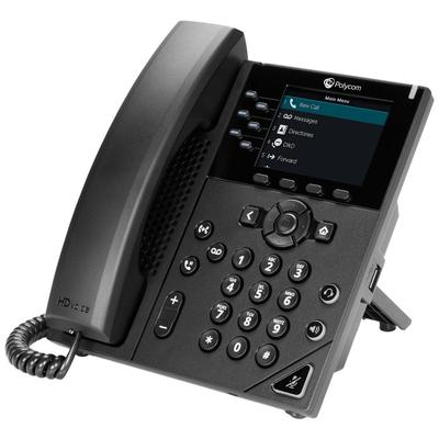 POLY VVX 350 IP telefoon - Zwart