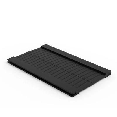 Minkels Airflow borstel 100mm d voor dakuitsparing zijkant Rack toebehoren - Zwart