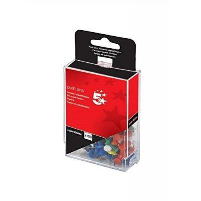 5star punaise: Push Pins Assorted Opaque, Pack of 100 - Multi kleuren