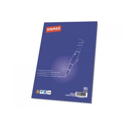 Staples Schrijfblok SPLS A4+ lijn 100 vel/pk 5