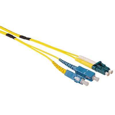 ACT 20m Singlemode 9/125 OS2 duplex ruggedized fiber kabelmet LC en SC connectoren Fiber optic kabel - Blauw,Geel