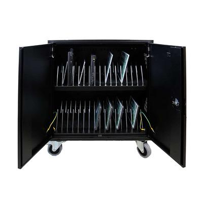 Leba NoteCart Flex voor 32 MacBook, ChromeBooks of iPad Portable device management carts & cabinet - Zwart, Grijs