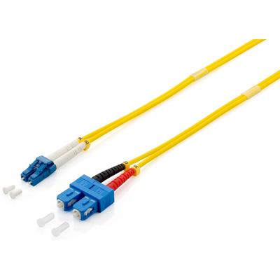 Equip LC/SС Optical Fiber Patch Cord, OS2, 9/125μm, 2.0m Fiber optic kabel - Geel