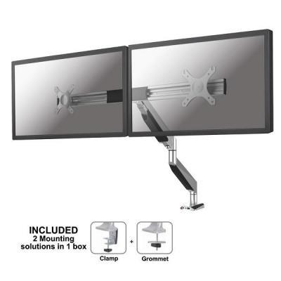 Newstar monitorarm: flatscreen bureausteun - Zilver