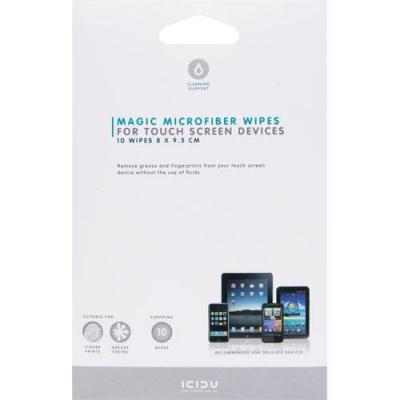 Icidu reinigingskit: Magische Microvezel Doekjes voor Touch Screen Apparaten - Wit