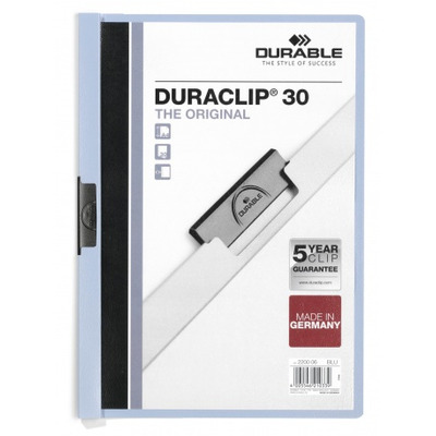 Durable Duraclip 30 Stofklepmap - Lichtblauw, Transparant