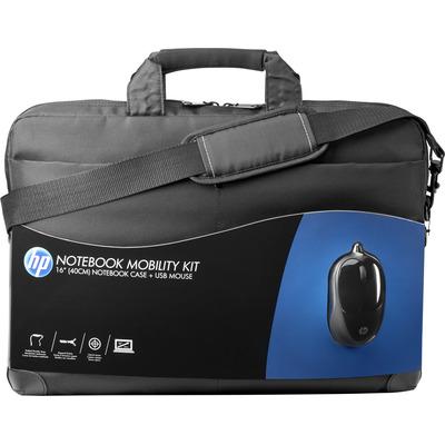 Hp laptoptas: Mobility-kit met tas en USB-muis - Zwart